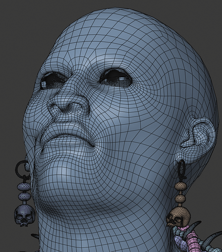 Wireframe face - no hair
