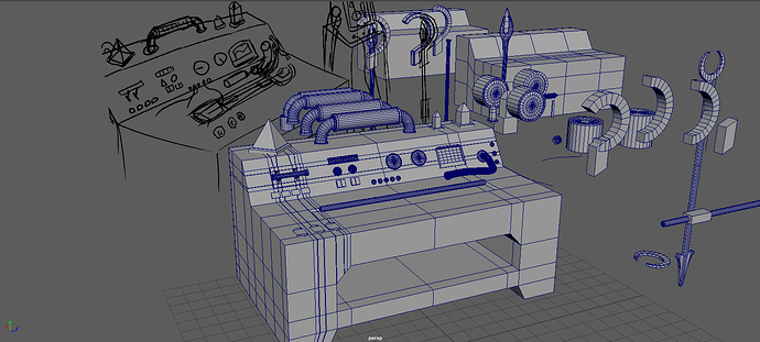 Machine Table Modelled