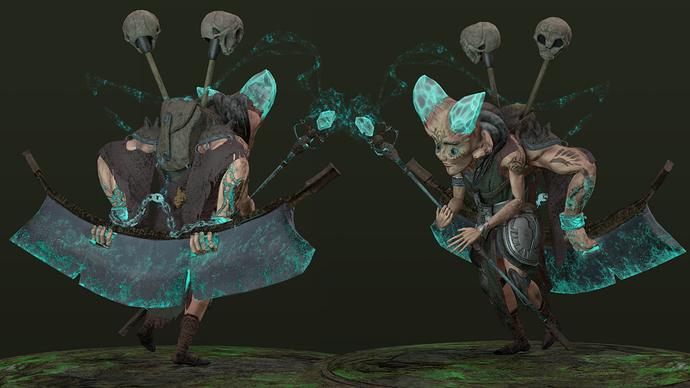 Warlock - 2 Poses